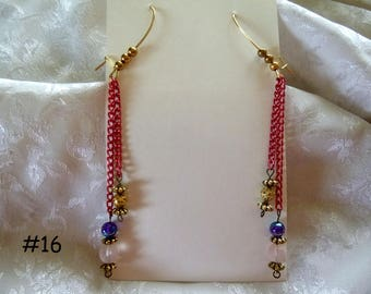 Clearance Sale:  Dangle Earrings Your Choice, Five Different Pairs on Each Listing E16-20