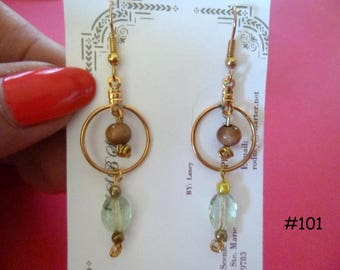 Clearance Sale: Dangle Earrings of all Different Types, Five Different Pairs on Each Listing E101-105