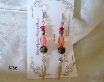 Clearance Sale: Dangle Earrings of all Different Types, Five Different Pairs on Each Listing E36-40