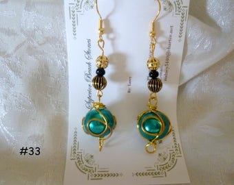 Clearance Sale: Dangle Earrings of all Different Types, Five Different Pairs on Each Listing  E31-35