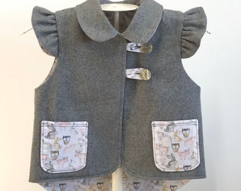 Child's vest made to order Autumn/Winter clothing