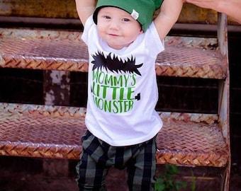 Halloween Shirt for boys, Mommy's Little Monster, 1st Halloween, Boys Halloween tee, Toddler Halloween Shirt, I've created A little monster