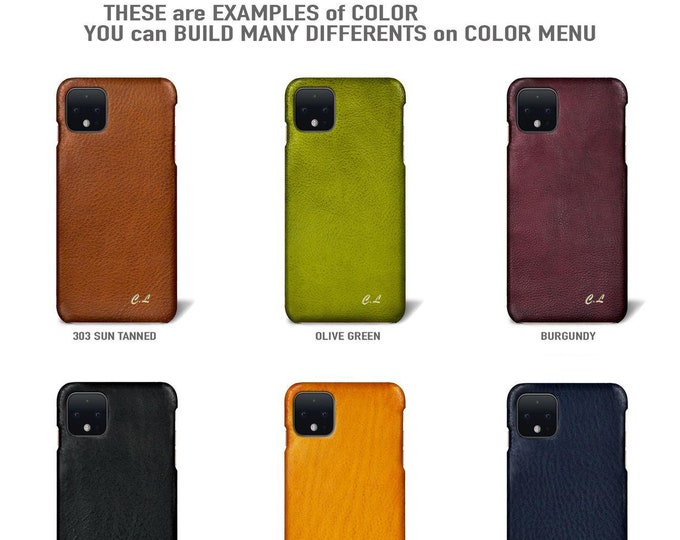 Google Pixel 5/5XL/4A/4A5G/4/4XL/3A/3AXL/3/3XL/2/2XL/1/1XL Italian Leather Case to use as protection Choose the DEVICE and COLORS