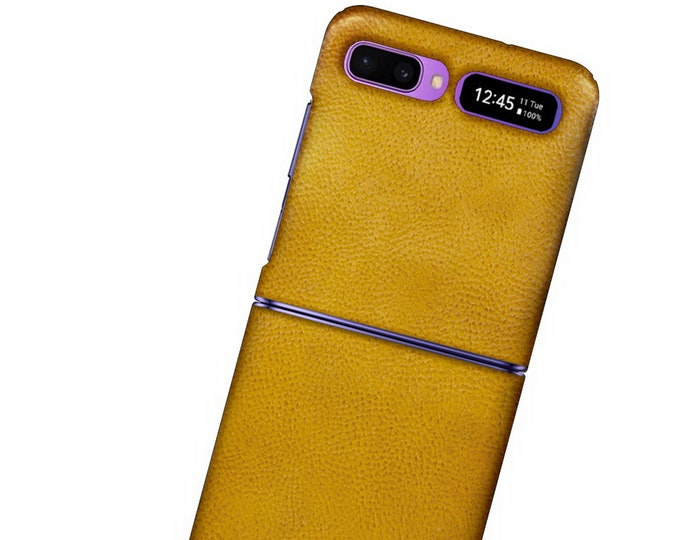 Samsung Galaxy Z FLIP Leather Case genuine natural leather credit card to use as protection colour CHOOSE