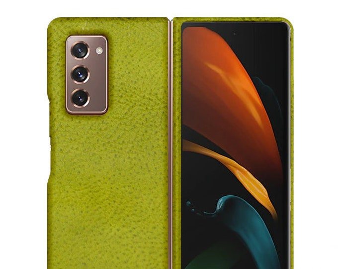 Samsung Galaxy Z FOLD 2 Leather Case genuine natural leather credit card to use as protection colour CHOOSE