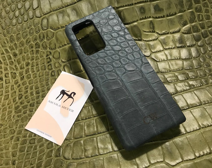Samsung Galaxy Z FOLD 2 Calfskin Leather Pritned Alligator Pattern Case genuine natural leather to use as protection colour CHOOSE
