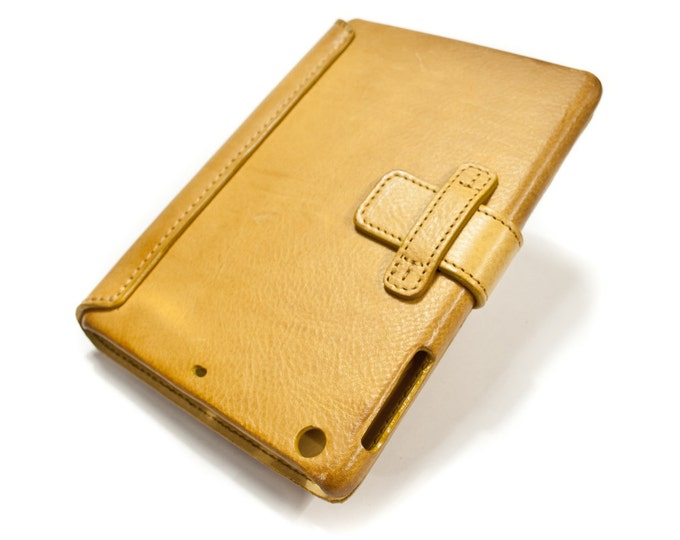 iPad 5-4 MINI leather case made by genuine italian leather CHOOSE COLOUR