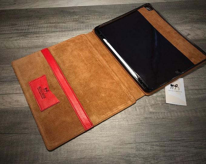 "iPad PRO 12.9"" 2018 3rd gen Wireless Pencil Ready A1876 A1895 A1983 A2014 PORTFOLIO leather case choose Body and Accent color"