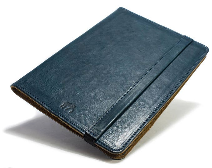 """iPad Pro 10.5"""" 2017 code A1701 A1709 PORTFOLIO leather case made by genuine Italian leather as protection choose Body and Accent color"""