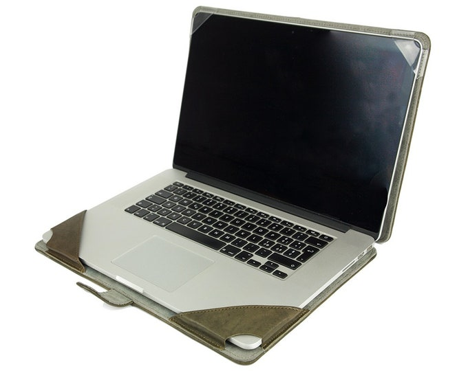 MacBook PORTFOLIO leather case made by genuine Italian leather as protection choose Body and Device