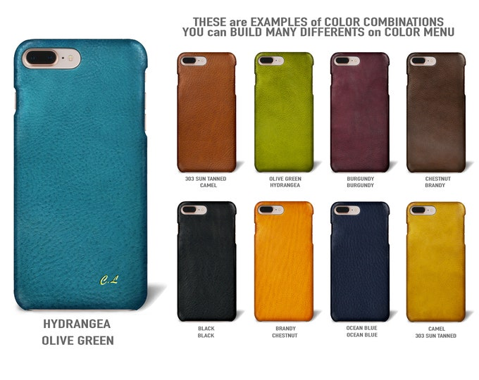"iPhone 8/7/6S 4.7"" e 8/7/6S Plus/SE/5S/5 Italian Leather Case to use as protection Choose the DEVICE and COLORS"