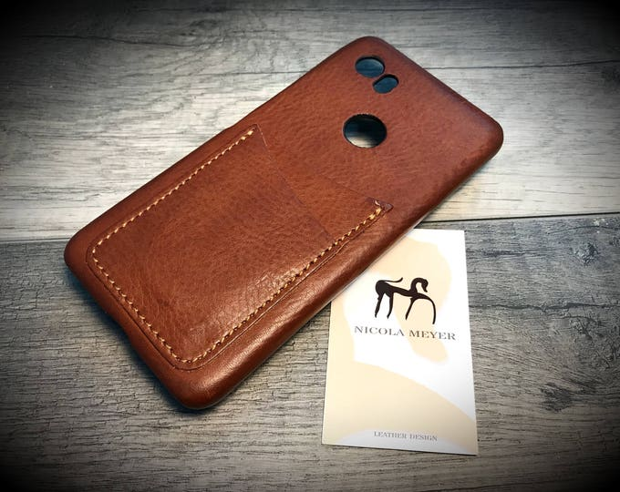 Google Pixel 5XL/4A5G/4XL/3AXL/3XL/2XL/1XL Italian Leather Case 2 card slot vertical  to use as protection Choose the Device and Color