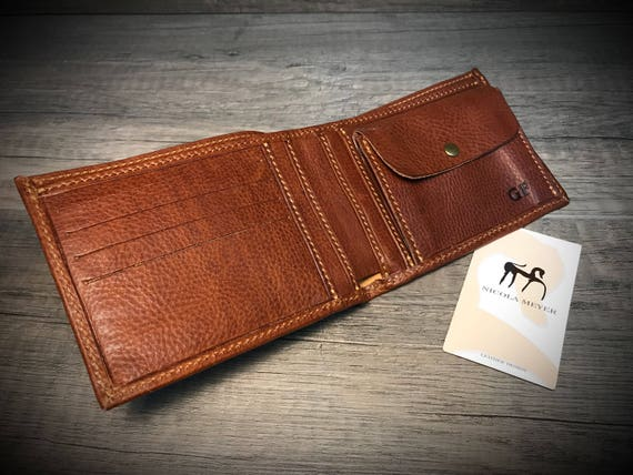 RFID Leather Walllet Genuine Leather Case made in Tuscany Italy choose color