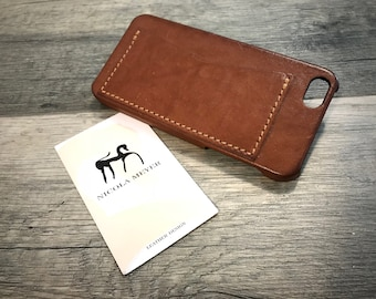 NEW For SALE 1 Piece iPhone Se 5s 5 Leather Case 1 slot horizontal genuine leather use as protection color 5740 washed