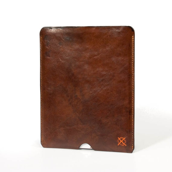 "IPad choose on menu leather case Made by Vegetable Italian Tanned Leather, the typical Tuscan ""cow"" greased."