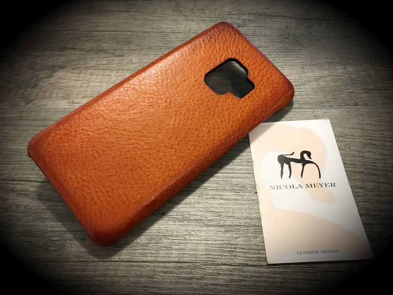 NEW S9/S9 Plus Samsung Galaxy Leather Case genuine natural image 0