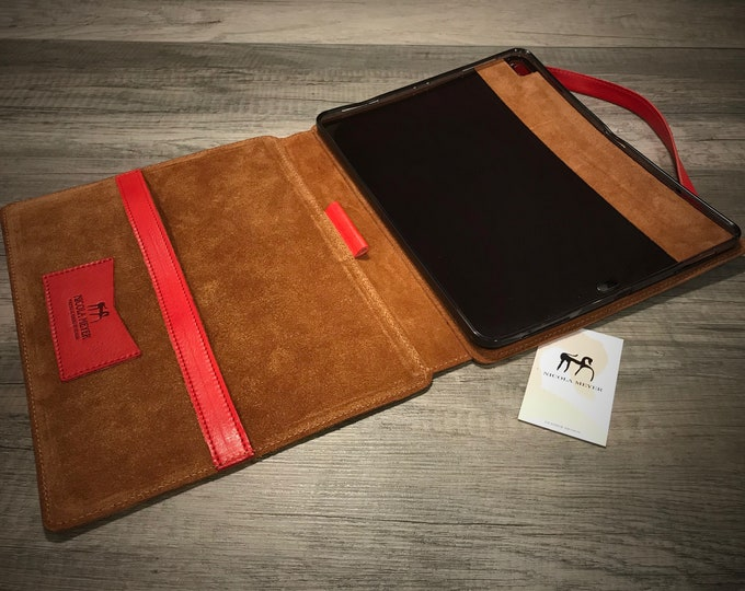 """iPad Pro 12.9"""" 5th gen 2021 A2378 A2461 A2379 PORTFOLIO leather case genuine leather as protection choose Body and Accent color"""