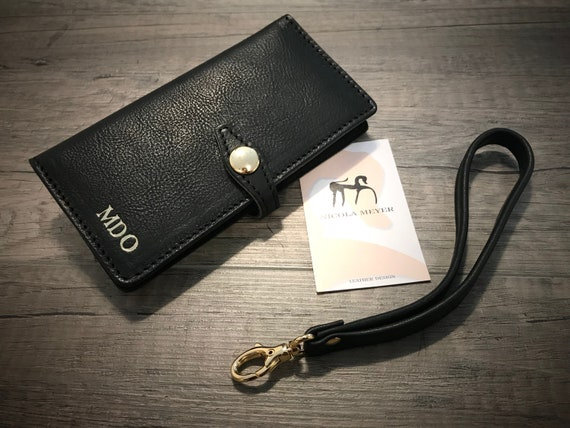 Note 10 Note 10 Plus  Samsung Galaxy Wristlet Flip Book Bifold Leather Case with credit card holder CHOOSE device and color