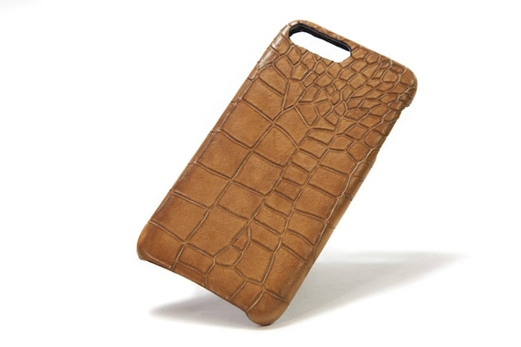 iPhone Calf Leather Alligator Printed for New iPhone Xs/X Xs Max Xr and 8 and 8 Plus and 7 and 6s SE 5S and Samsung Galaxy choose Colors