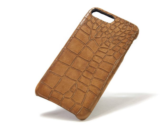 iPhone Calf Leather Alligator Printed for New iPhone 12 11 Xs/X Xs Max Xr and 8 and 8 Plus and 7 and Samsung Galaxy choose Colors