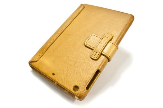 iPad 5-4 MINI leather case made by genuine italian leather CHOOSE COLOUR