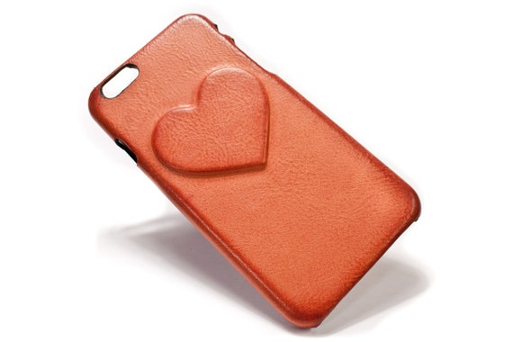 Valentine Day Heart iPhone Leather Case Washed Leather Aged colour to CHOOSE