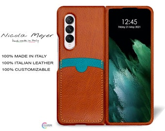 Samsung Galaxy Z FOLD 3 Leather Case genuine natural leather 2 credit card slots TYPE 2 to use as protection colour CHOOSE