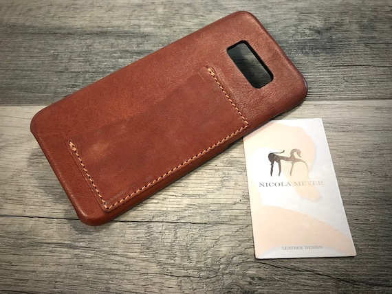 NEW for SALE Only 1 Piece Samsung Galaxy S8 Plus Leather Case 1 slot horizotnal italian leather use as protection color Bruciato washed
