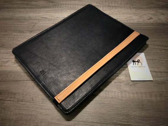"iPad PRO 12.9"" 2018 3rd gen code A1876 A1895 A1983 PORTFOLIO leather case genuine Italian leather as protection choose Body and Accent color"