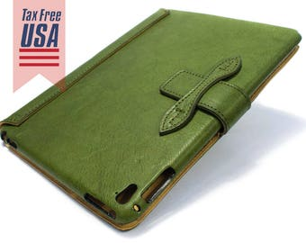 """NEW iPad 9.7"""" 2017 code A1822 A1823 leather case made by genuine italian leather as protection choose color"""