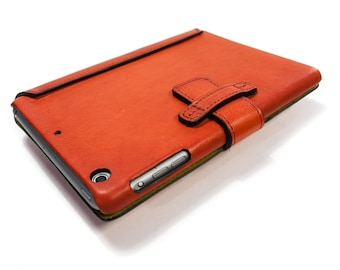 iPad AIR 1 leather case as best protection made by genuine italian leather color to CHOOSE