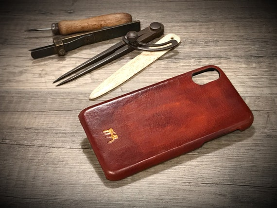 FLORENCE model iPhone X Hard Case Smooth leather Lux color 93 Unique
