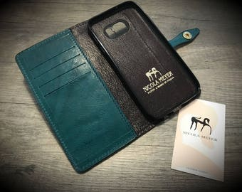 New NOTE 20/10/9 Leather Flip Book Cover with credit card holder choose color