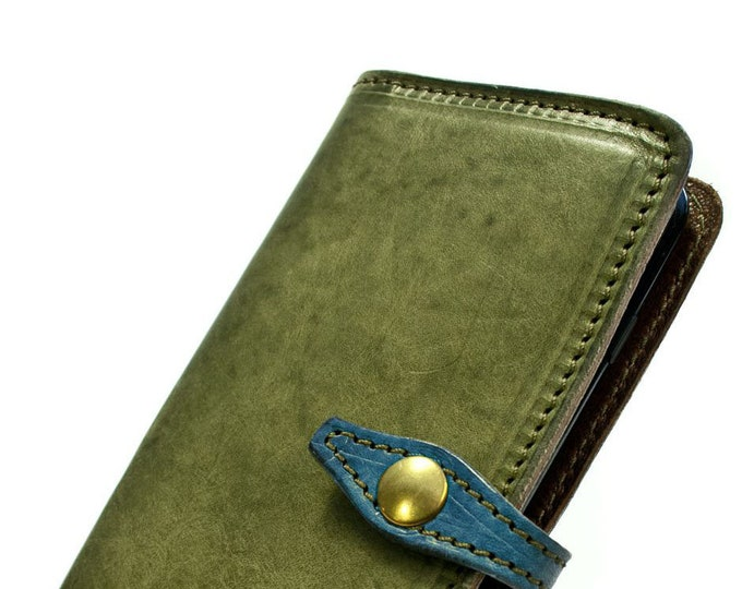 """Apple iPhone 11 6.1"""" Flip Book Bifold Leather Case with credit card holder CHOOSE color"""