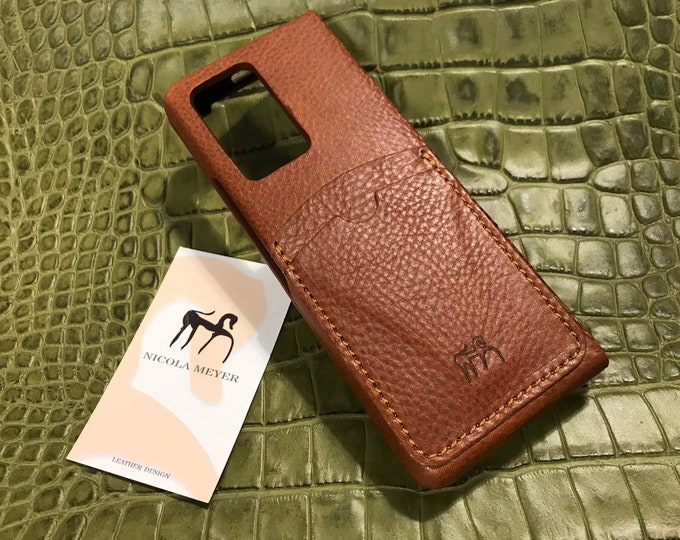 Samsung Galaxy Z FOLD 2 Leather Case genuine natural leather 2 credit card slots TYPE 2 to use as protection colour CHOOSE