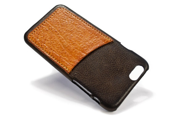 "iPhone XS/X 5.8"" smaller one leather credit card case col CASTAGNO chose accent"