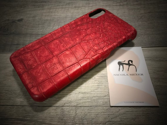 Distresse iPhone Calf Leather Alligator Printed for iPhone Xs/XXsMaxXr/8/8Plus/7/6s/SE/5S and Samsung Galaxy choose Colors