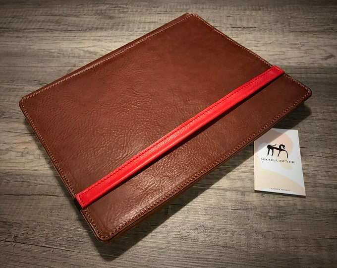 """iPad Pro 12.9"""" (4th generation 2020) A2229 A2069 A2232 A2233 PORTFOLIO genuine leather case as protection choose Body and Accent color"""
