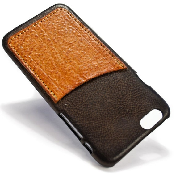 """UNIVERSAL iPhone 8 7 6s/6 display 4.7"""" Leather Case with 1 credit card holder vertical Slot choose the color of BODY and ACCENT"""