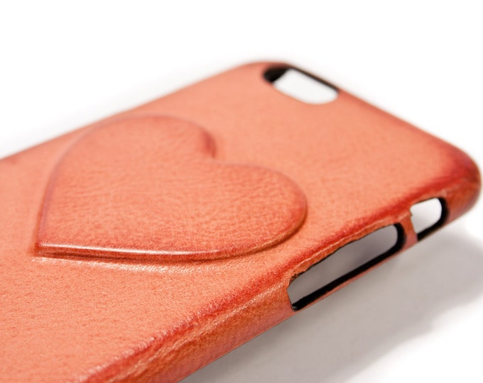 NEW iPhone X 8 and 7 or 6 or SE or 5s  Samsung S8 S8 Plus Huawei P10 Heart iPhone Leather Case Washed Leather Aged colour to CHOOSE