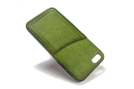 iPhone SE/5s/5 Italian leather Case with 1 credit card holder vertical slots choose BODY and ACCENT colour