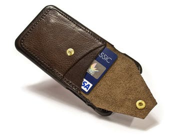 "NEW iPhone 8 and 7 4.7"" leather credit card case 2 slots vertical plus a Flap choose colour of BODY and ACCENT"