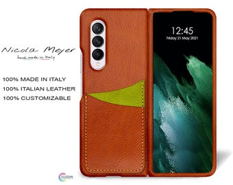 Samsung Galaxy Z FOLD 3 Leather Case genuine natural leather 2 credit card slots TYPE 1 to use as protection colour CHOOSE