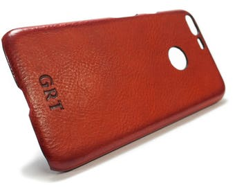NEW Google Pixel 2 and Pixel 2 XL Italian Leather Case Classic or Washed or Aged  to use as protection Choose the DEVICE and Color