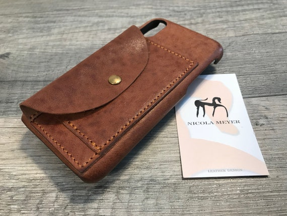 "FREE Ship On SALE iPhone XS/X 5.8"" Italian Leather Case to use as protection Color 5740 Washed"