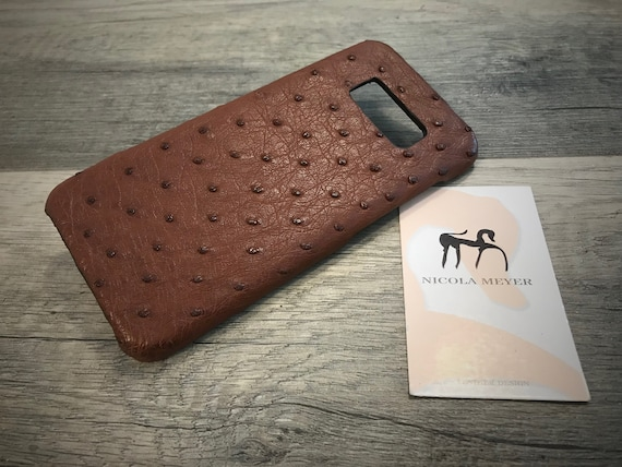S10/S105G/S10Plus/S10Lite Case Galaxy Genuine Ostrich leather case choose Device and Color
