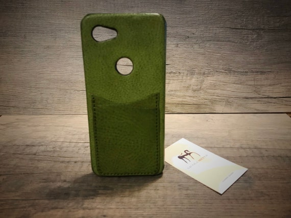 Google Pixel 3A 3 Pixel 2 Pixel rev. 1 small Italian Leather Case 2 card slot vertical  to use as protection Choose the Device and Color