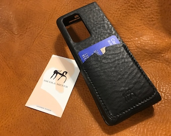 Samsung Galaxy Z FOLD 2 Leather Case genuine natural leather 1 credit card slot TYPE 2 to use as protection colour CHOOSE