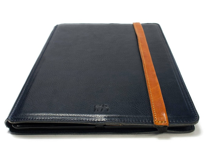 """iPad PRO 10.5"""" PORTFOLIO leather case made by genuine Italian leather as protection choose Body and Accent color"""