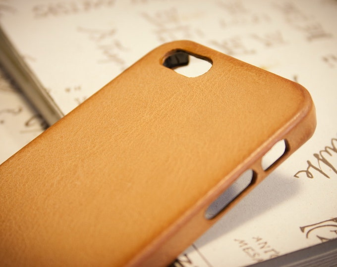 NEW iPhone 7 Leather Case genuine natural leather for iPhone 7 or 7 Plus or 6S Plus SE 5S 5C 4S to use as protection colour natural